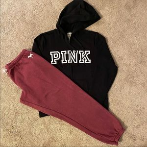 vs PINK HOODIE AND JOGGERS